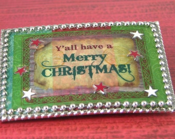 Merry Christmas Belt and Buckle