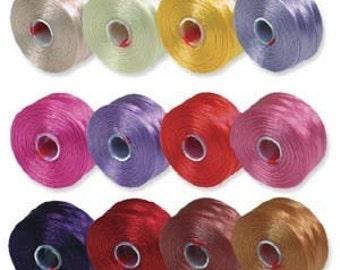 S-Lon Bead Thread by BeadSmith 12 colors, C1072