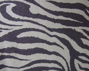 Fabric Zebra Taupe Sueded Luxurious, 5 yards