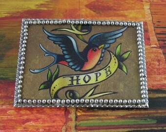 Belt N Buckle Set - Blue Bird of Hope, Feathers, Robin