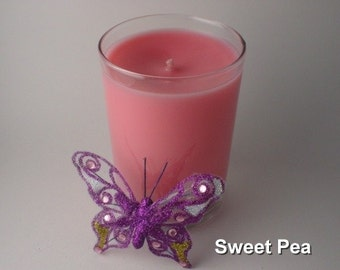 Highly Scented Sweet Pea Candle