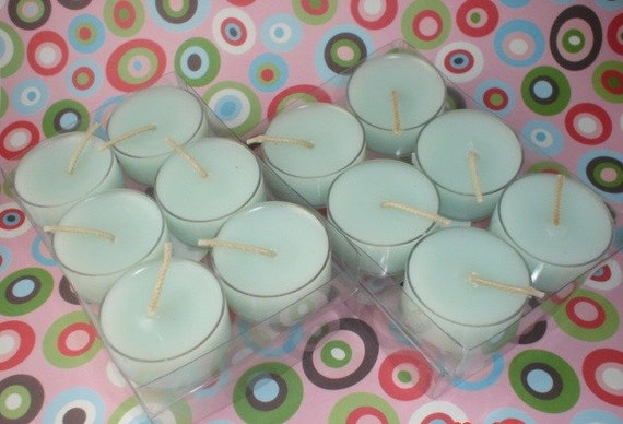 1 dozen Personalized Highly Scented Plastic Cup Tealights