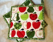 Apple and Pears Potholders