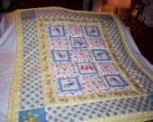 Handmade Baby Peter Rabbit & Sisters Cotton Baby/Toddler Quilt-NEWLY MADE 2016