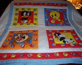 Handmade Baby 1994 ABC Looney Tunes Cotton Baby/Toddler Quilt-NEWLY MADE 2016