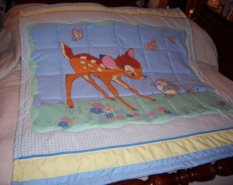 Baby Bambi &Thumper Cotton Baby Quilt-Newly Made 2017