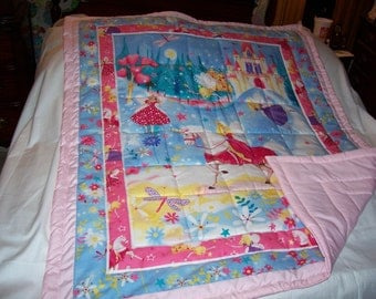 Handmade Baby Unicorn, Princess, Fairies Baby/Toddler Quilt-NEWLY MADE 2017