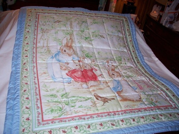 Baby Peter Rabbit Cotton Boy Baby/Toddler Quilt-NEW