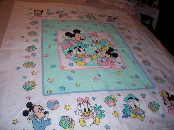 Baby Mickey Minniedonaldand Daisy Baby Quilt Fabric