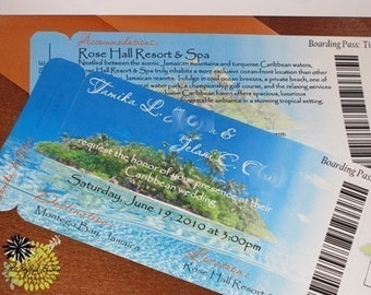 Boarding Pass Invitation DEPOSIT: Island Design