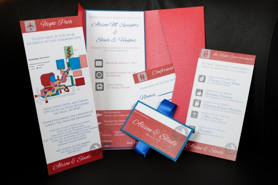 Ashley & Sloan Travel Invitation Package