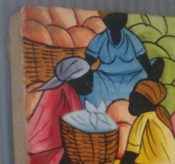 Black Folk Painting Haiti Tribe Art Lando