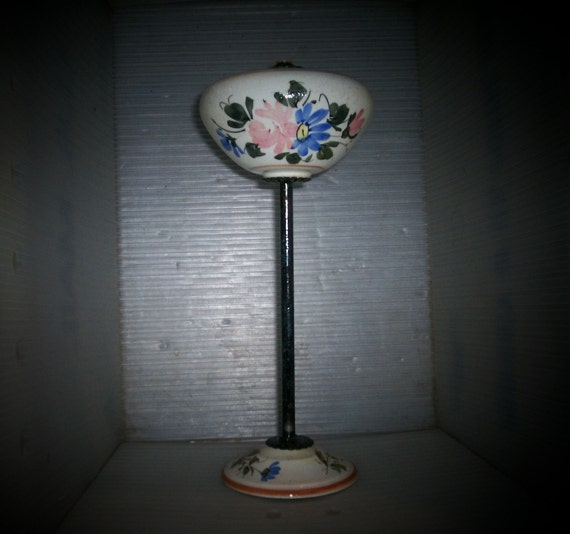 Cottage Chic Hat Stand Vintage Floral Pottery Iron Store Display