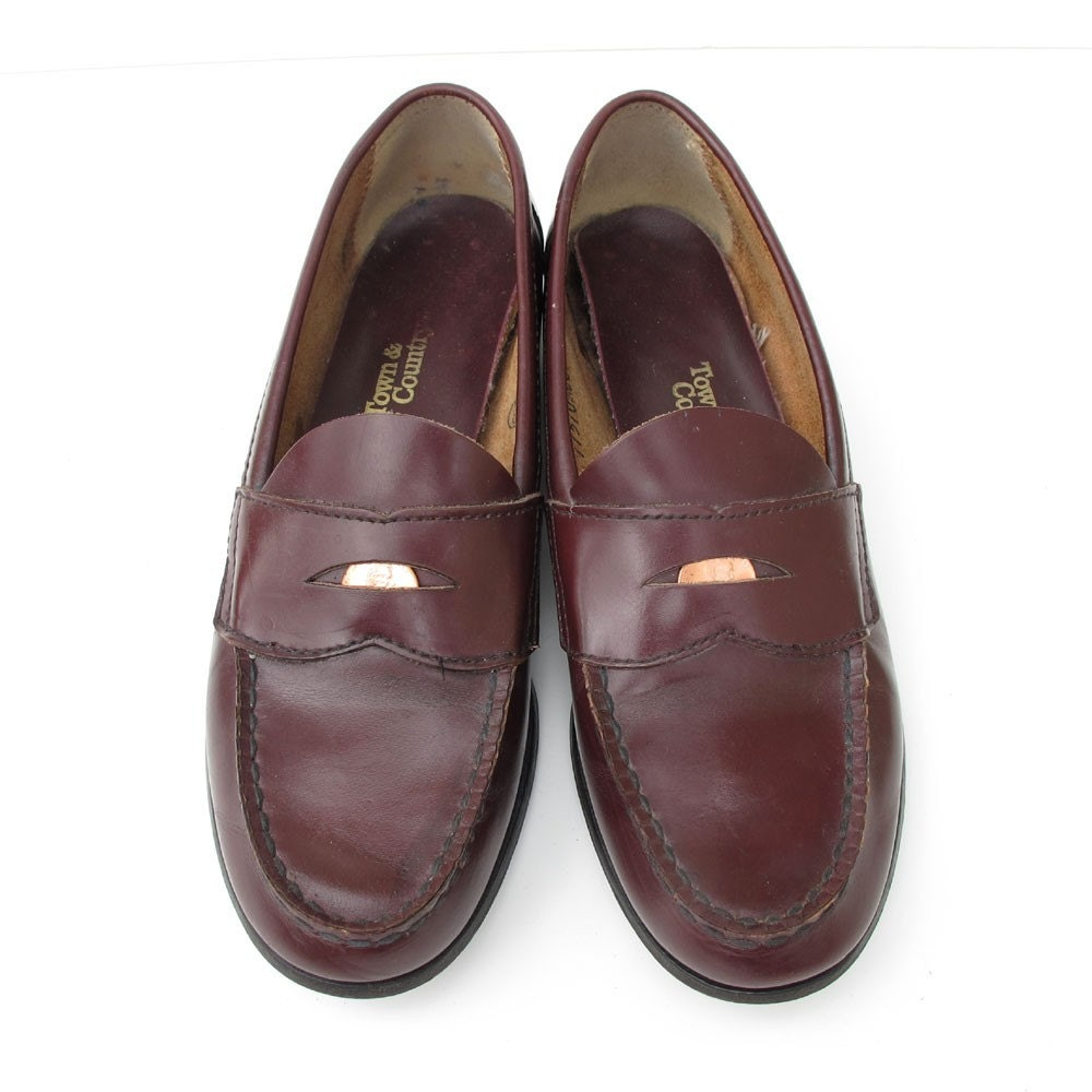 town and country BEST vintage penny loafers 7