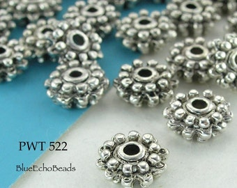 Pewter Beads Spacer Antique Silver Double Spacer (PWT 522) blueecho 20 pcs