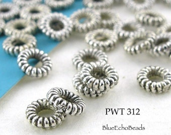 Small Pewter Beads Antique Silver Rings 5mm (PWT 312) blueecho 100 pcs
