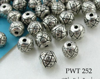 5mm Pewter Spacer Beads Small Antiqued Silver (PWT 252) 20 pcs BlueEchoBeads