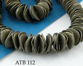 10mm Antique Bronze Potato Chip Beads, Wavy Disks (ATB 112) 110 pcs BlueEchoBeads
