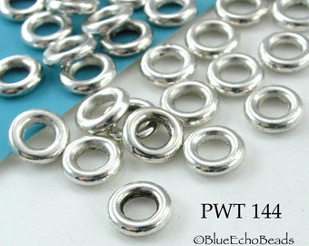 8mm Pewter Jump Ring Connector Closed (PWT 144) 50 pcs BlueEchoBeads