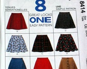 McCalls Pattern, Girls skirts-SZ 3-5, 8 Styles-ON SALE