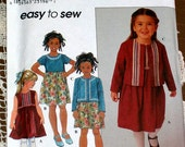 Simplicity Pattern 8816, Girls Sz 3-8, Dress and Jacket-Easy