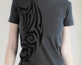 CLEARANCE SALE Tribal Tattoo Womens Alternative Apparel Pigment Black Short Sleeve T-shirt
