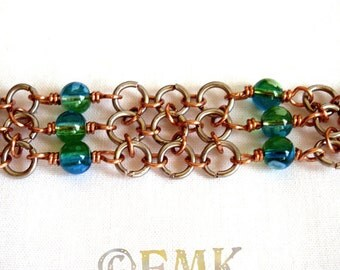 Peace Begins with a Smile Chainmaille Bracelet