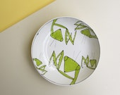 RESERVED FOR MARY // Large green praying mantis bowl, serving bowl / table centerpiece