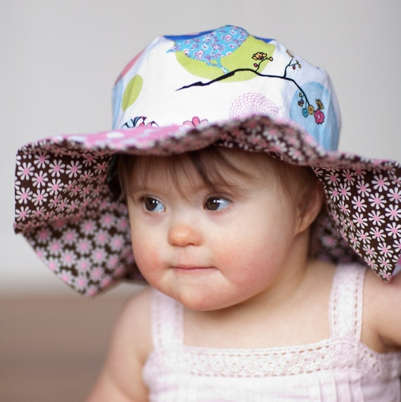 Baby Sun Protection Hat for Infant Girls, Wide Brim, Pink Floppy Boutique Hat