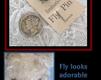 Adorable Tiny Fly Stick Pin