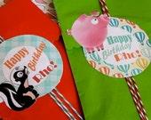 Granja pegatinas Happy Birthday Rho