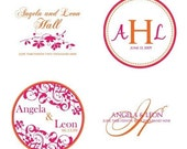 4 Custom Designed Monograms
