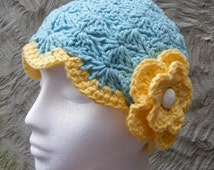Chemotherapy Hat Crochet Pattern -  Cloche Hat Pattern by TheHappyCrocheter - Close Fitting - Quick and Easy for Charity or Gift Giving