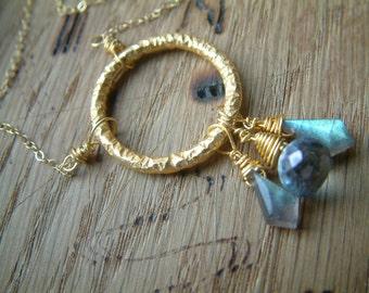 Mystic Blue gold vermeil necklace