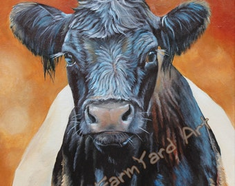 Original Fine Art  Dutch Belted Galloway painting by Laura Carey