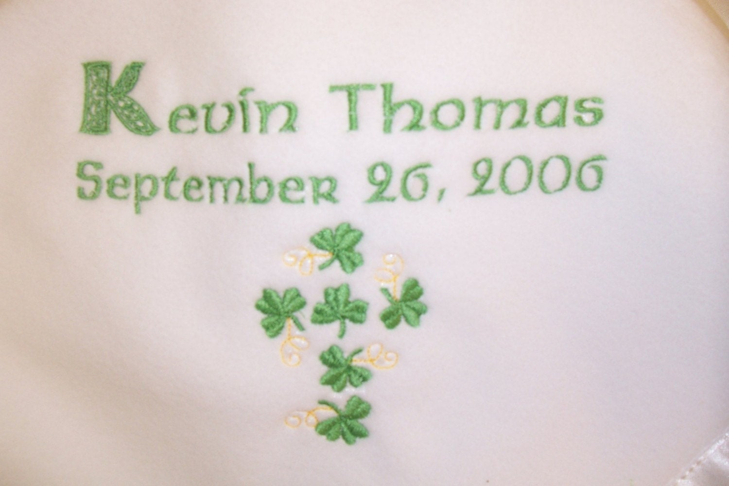 Personalized Baby Gifts Ireland : Personalized irish baby blanket embroidered crib gift birth