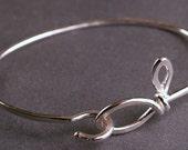 Sterling silver leaf and branch hammered bangle hook bracelet