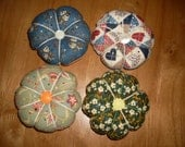 Reserved for sandym870.... Vintage Fabric Pincushions x3