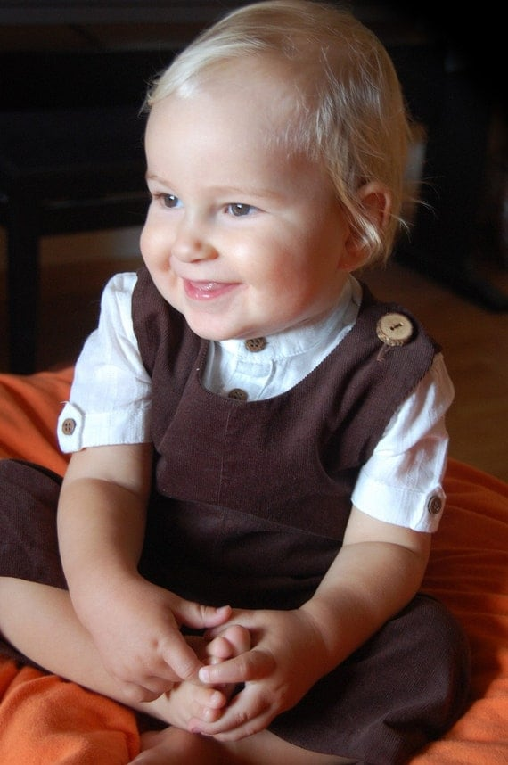 MY FIRST SUIT baby boy handmade formal corduroy overall, baby boy jumper, baby boy dungarees, custom made in any size