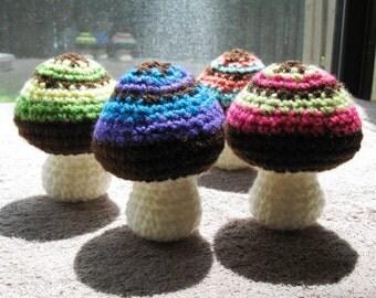 Amigurumi Mushroom PDF pattern, crochet mini mushroom, simple and easy project
