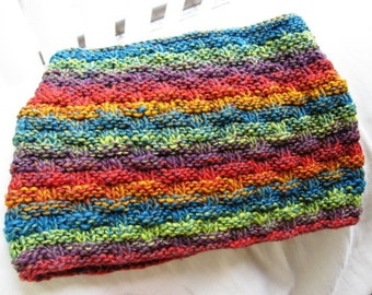 Knit Cowl PDF pattern, worsted weight yarn, for easy and quick project
