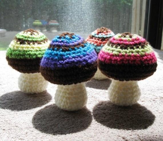 Amigurumi Mushroom Crochet Patterns : Amigurumi Mushroom PDF pattern crochet mini mushroom simple