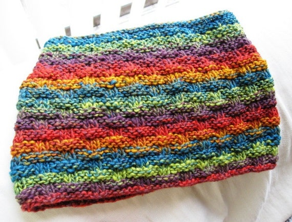 Knit Cowl PDF pattern worsted weight yarn for easy and quick