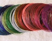 Necklace Wires 15 inch Screw Clasp color coated steel choker wire quantity 1