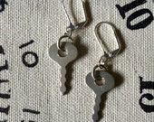 Vintage Diary Key Earrings