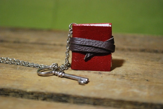 Little Red Book Necklace
