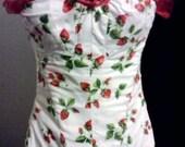 Strawberry Print Corset
