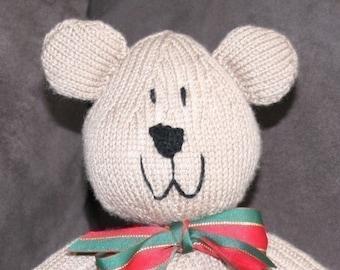 Sam Bear - Teddy Bear pattern - INSTANT DOWNLOAD PDF Knitting Pattern
