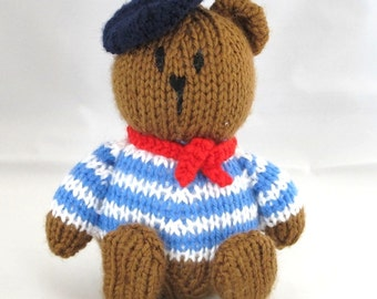 Louis, My Little French Friend - INSTANT DOWNLOAD PDF Knitting Pattern