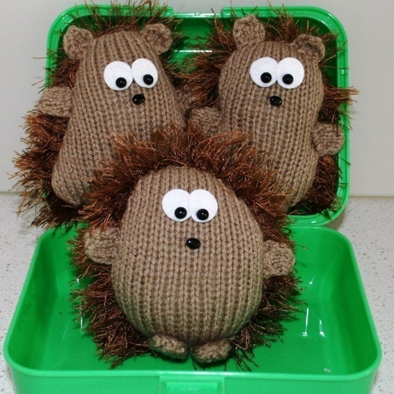 3 different Hedgehogs PDF KNITTING PATTERN by kooklacreations